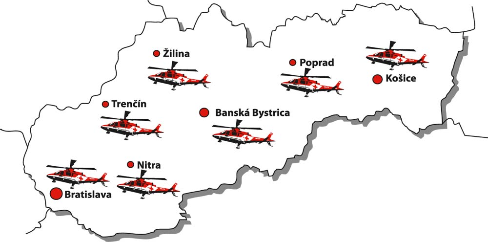 Seven operational centers in Slovakia